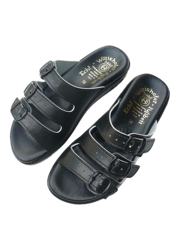 Zdravotní obuv Dámské pantofle v černé barvě Velikost: 36